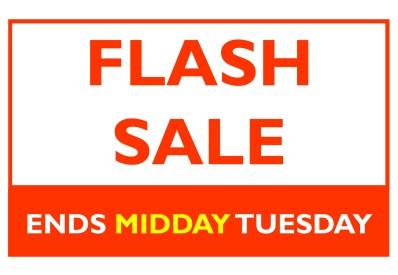 Flash Sale 2017 Ends 12pm